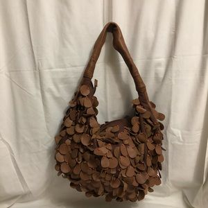 Deux Lux Brown Leather Hobo Bag